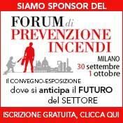 """Banner per iscrizione gratuita online al """"Forum di Prevenzione Incendi"""""""